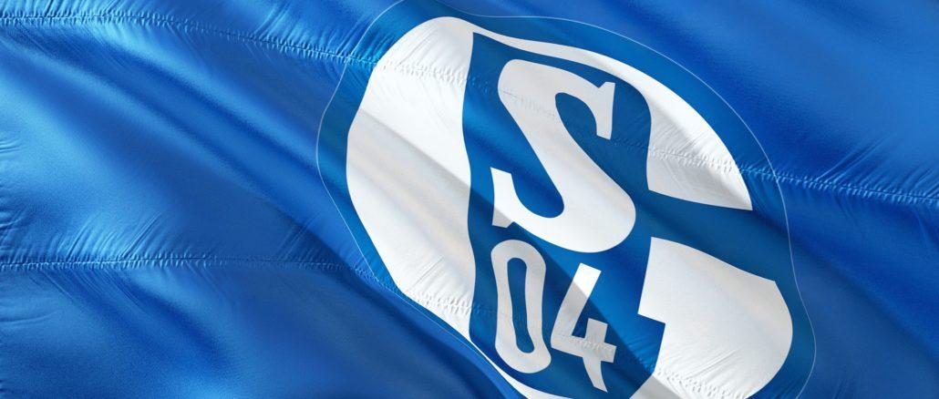 Flagge mit dem Logo des FC Schalke 04