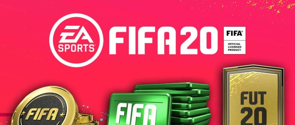 FIFA Ultimate Team: FIFA 20-Logo mit Coins und Points