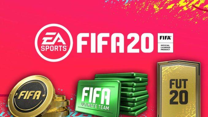 FIFA Ultimate Team: FIFA 20-Logo mit Coins und Points